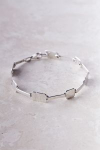 Tab & Bar Hammered Bracelet