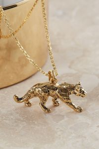 Gold Plated Leopard Necklace