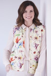 Women's Floral Printed Cashmere Gilet