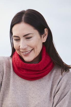 4 Ply Cable Cashmere Neckwarmer