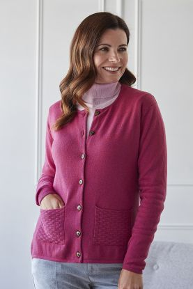 Women's Maisie 2ply cashmere cardigan in pink