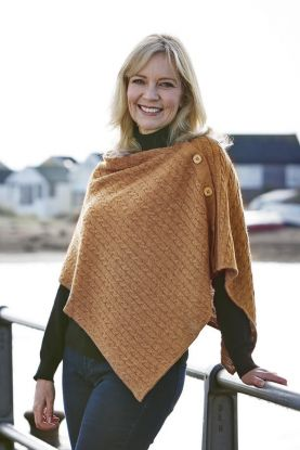 Cabled Cashmere Poncho
