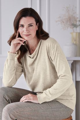 Juliette Drape Neck Cashmere Sweater