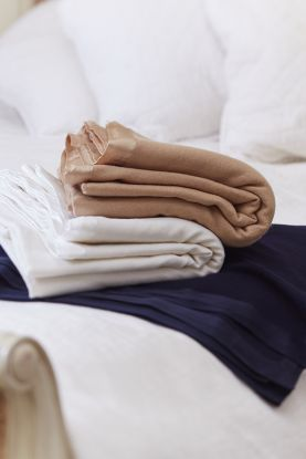 Silk Edged Cashmere Blankets - Double