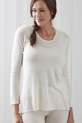 Ladies Long Sleeve Cashmere Vest Top