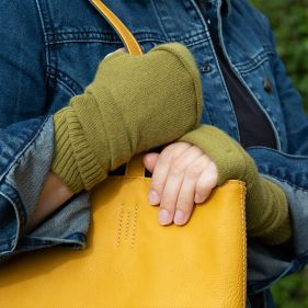 Recycled Cashmere Fingerless Gloves