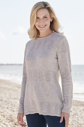 Hannah 4 Ply Panelled Cashmere Tunic