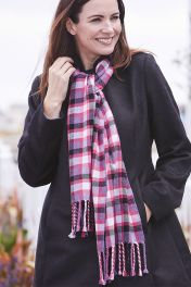 Unisex pure cashmere scarf in Fyvie colour style