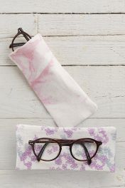 Floral Silk Lined Glasses Case