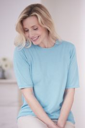 Pearl Cashmere Cotton Classic T-Shirt