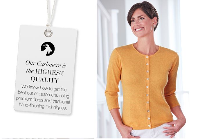 Our cashmere is of the highest quality