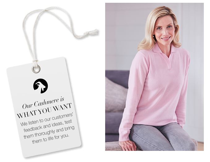 We listen to our customers feedback to make our cashmere
