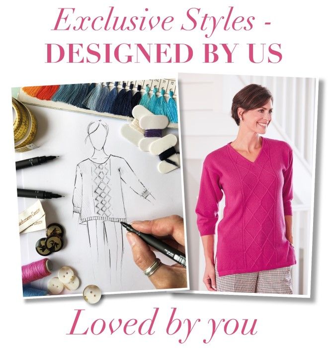 Exclusive cashmere styles designed in the UK